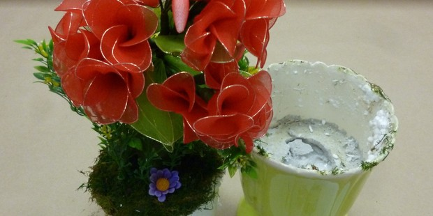 Drugs concealed in a vase. Photo / Supplied