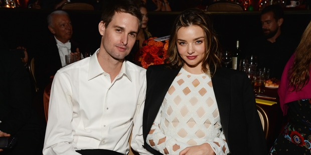 Co-founder of Snapchat Evan Spiegel and model Miranda Kerr are dating. Photo / Getty