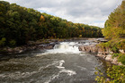 Rafting on the Youghiogheny River is a big attraction here - Ohiopyle comes from a Native American word meaning white, frothy water. Photo / iStock