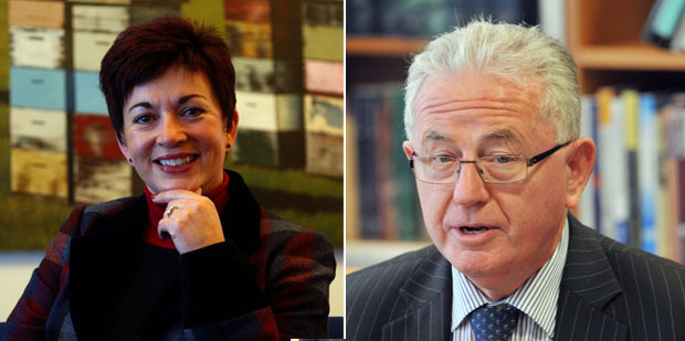 Patsy Reddy and Michael Cullen.  Photo / Dean Purcell / Ross Setford