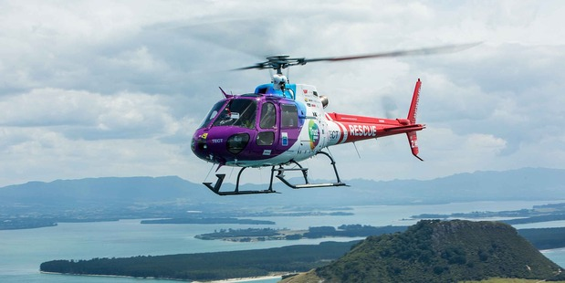 Trustpower TECT Rescue Helicopter. Photo/supplied
