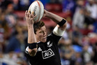 Sam Dickson of New Zealand grabs the ball. Photo / Getty