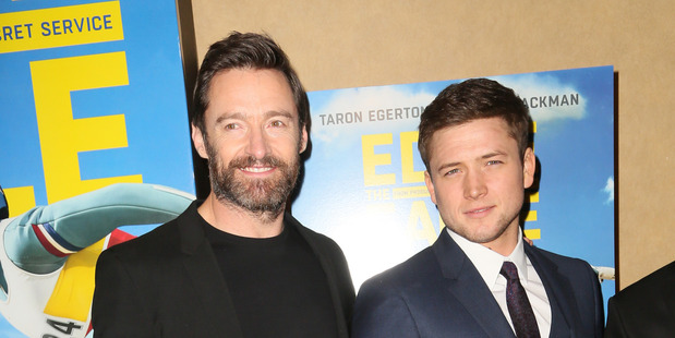 Loading Hugh Jackman weighed in on the NZ flag debate while promoting his new film Eddie the Eagle. Photo / Splash