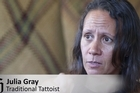 Melanesian tatu (tattoo) artist Julia Gray is one of several New Zealand-based artists connected with The Veiqia Project, an initiative which has taken the group to parts of the Pacific in a bid to research the ancient practice of female tattooing.