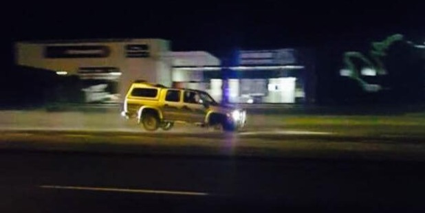 Police pursued this vehicle for almost two hours in Napier central last night.