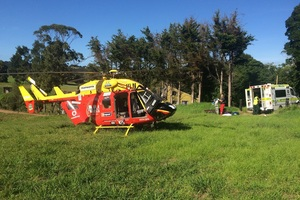 The man was airlifted to to Auckland City Hospital in critical condition. Photo / Supplied