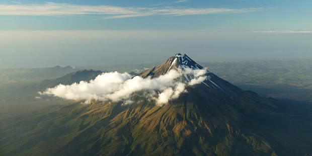The men were missing on Mt Taranaki but thankfully could use GPS to signal rescue services and each other. Photo / File