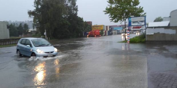 Bad flooding on Maleme street. Photo/File