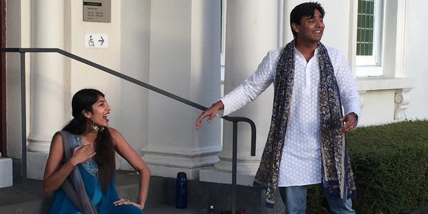 Prayas Theatre Company entertain during the White Night Art Bus trip.