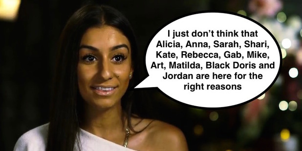 Bachelorette Naz in a scene from The Bachelor NZ.