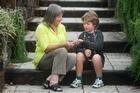 Cancer survivor Cory Josephs talks with Barbara Richardson from the Child Cancer Foundation.