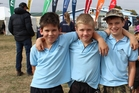 Members of three Dannevirke South School teams in the AgriKids event at Dannevirke were Toby Walker (left), Will Billing and Quinn Stead. Photo / Christine McKay