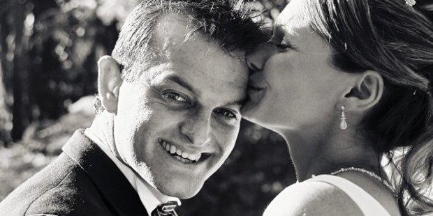 Paul and Danica Weeks. Mr Weeks was a passenger aboard the MH730 flight which went missing. Photo / Supplied
