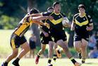 Whangarei Boys' High School vs Bream Bay College. Photo / John Stone, Northern Advocate