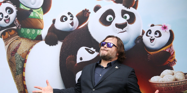 Jack Black's character Po is master to a rag-tag band of kung fu students in  Kung Fu Panda 3. Photo / AP