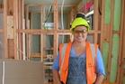 Elizabeth Cruickshank - a former nurse and trainee carpenter at Auckland's Maori and Pasifika Trades Training course. Photo / Manukau Institute of Technology