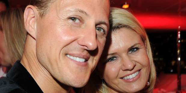 Michael Schumacher and his wife Corinna in 2011. Photo / Getty Images