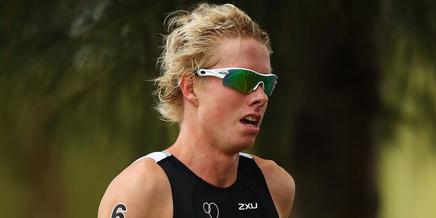 Sam Ward at the Team Relay Triathlon during the Australian Youth Olympic Festival. Photo / Getty Images