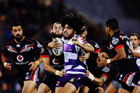 The Warriors are aiming to shut down Melbourne's trio of Kiwis test forwards Tohu Harris (above), Kevin Proctor and Jesse Bromwich. Photo/Getty