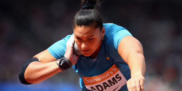 Valerie Adams competes during the Sainsbury's Anniversary Games. Photo / Getty Images