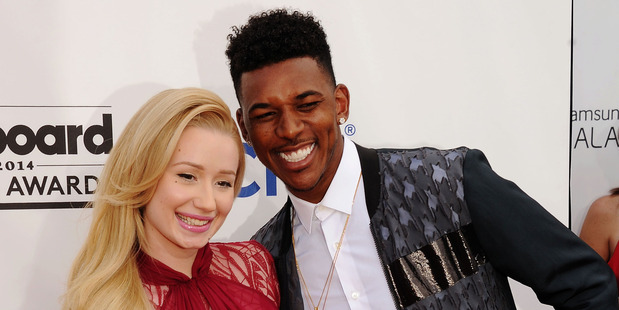 Recording artist Iggy Azalea and NBA player Nick Young. Photo / Getty Images