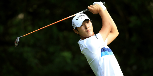 Danny Lee of New Zealand hits off the third tee during the Valspar Championship. Photo / Getty Images