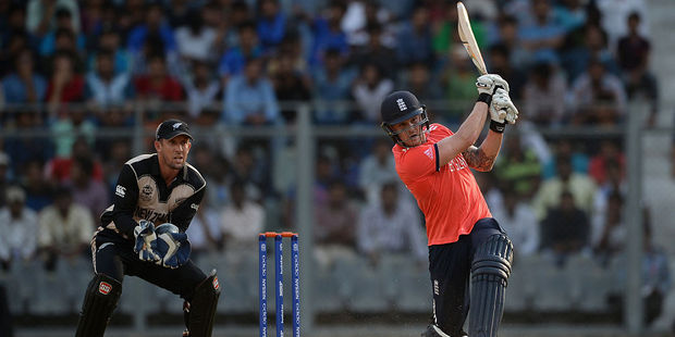 Jason Roy of England bats during the ICC Twenty20 World Cup warm up match between New Zealand and England. Photo / Getty Images