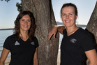 Jo Aleh, left, and Polly Powrie selected for the Olympic Sailing Team in the women's 470. Photo / Getty Images