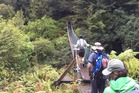 Hump Ridge swing bridge.