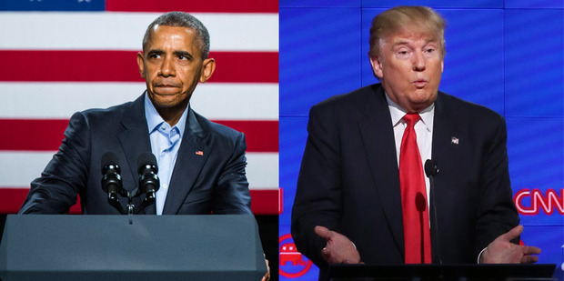 """Barack Obama said he was unsurprised by the billionaire businessman and reality TV star's rise. """"How can you be shocked?"""" he asked to laughter from the crowd, according to a transcript. Photos / AP"""