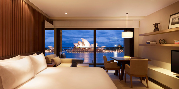 The Park Hyatt offers a spectacular view of the Sydney Opera House. Photo / Supplied