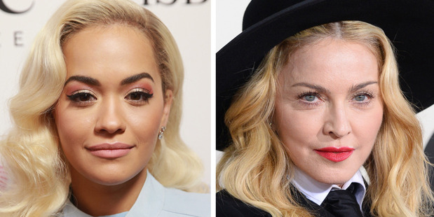 Singers Rita Ora and Madonna. Photo / Getty Images, AP