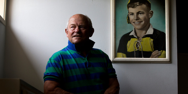 Neil Wolfe, dementia sufferer and former All Black, at his home in New Plymouth. Photo / Brett Phibbs
