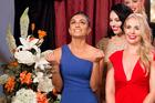Bachelorette Naz Khanjani reacts after receiving a rose on The Bachelor NZ.