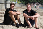 Blair Tuke and Peter Burling, after the New Zealand Olympic sailing team announcement held at Wakatere Boating Club. Photo / Brett Phibbs
