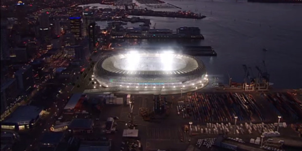 A proposed waterfront stadium for Auckland City. Photo / Supplied