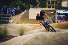 Local rider Connor Mahuika, 16, in action at Crankworx Rotorua. Photo / Dominic Hook