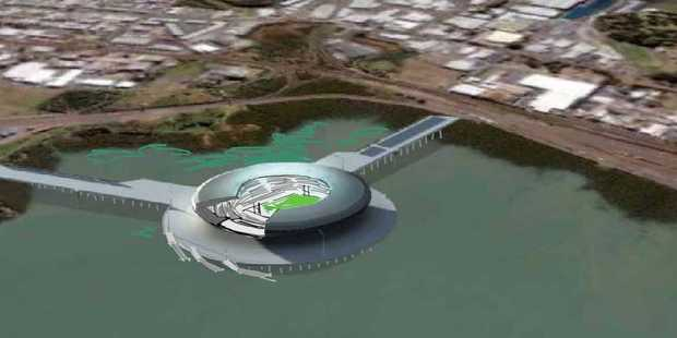 Design for the new Auckland Waterfront Stadium by Pete Bossley of Bossley Architects. Photo / Supplied