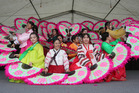 Korean Fan Dance from St Dominic's College at the ASB Polyfest. Photo / Ben Campbell