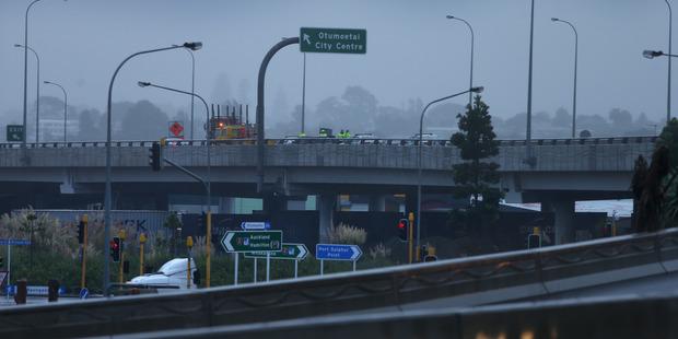 A pedestrian has been critically injured on the Takitimu Drive overpass directly above Chapel St. Photo/John Borren