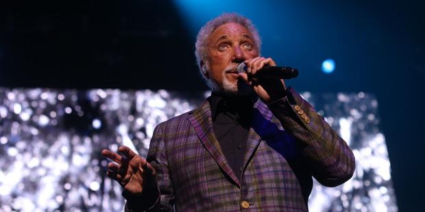 Tom Jones performs at Vector Arena. Photo: Garry Brandon/Vector Arena