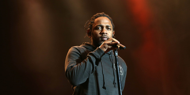 Kendrick Lamar performs at the inaugural Auckland City Limits festival at Western Springs. Photo / Chris Loufte
