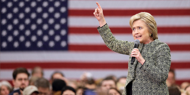 Democratic presidential candidate Hillary Clinton speaks at Meharry Medical College. Photo / AP