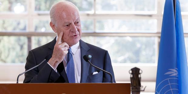 UN Special Envoy of the Secretary-General for Syria Staffan de Mistura. Photo / AP