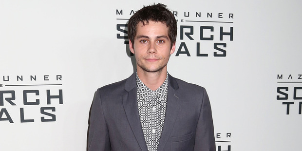 Dylan O'Brien, 24, was taken to a hospital in Vancouver, Canada for observation and treatment, Fox said in a statement on Friday. Photo / AP