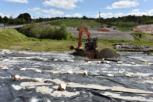 Asbestos testing at Maungatapu. Photo/file