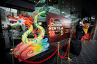 Chinese Dragon and Lion lanterns at the main entrance to SkyCity as part of Chinese New Year celebrations. SkyCity won't comment on Star takeover rumours. Photo / Dean Purcell.