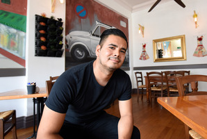 Wharf St Eatery owner Pablo Cardenas wants parking back. Photo/George Novak