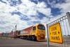 A Kiwi Rail train passes over the Mirrielees Road in Tauranga. Photo/file