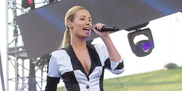 Iggy Azalea has been thrown from her horse and is bruised and battered.